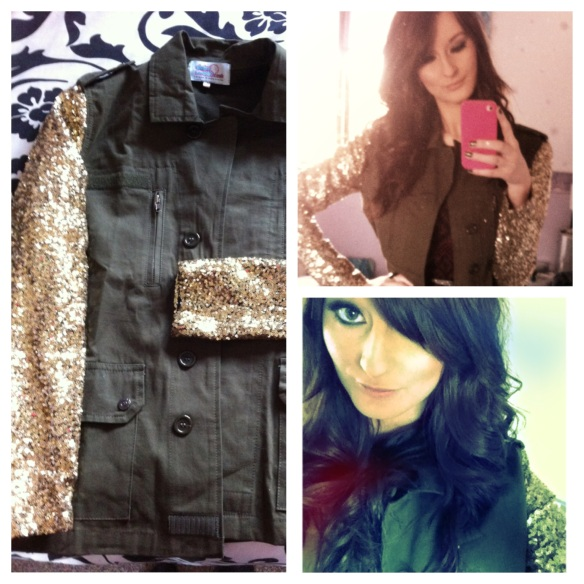 Sequin Sleeved Jacket from Daisystreet.co.uk